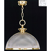 Martinez Y Orts One Light Glass and Striped Bronze Pendant - Antique Silver