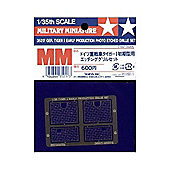 German Tiger I Early Protection Photo Etched Grille Set- 1:35 Scale Military - Tamiya