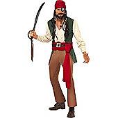 Smiffy's - Caribbean Drunken Pirate - Adult Costume Size: 42-44