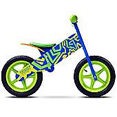 Caretero Zap Wooden Balance Bike (Blue/Green)