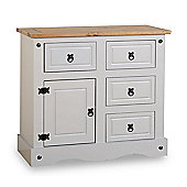 ValuFurniture Corona 1 Door 4 Drawer Sideboard - Grey