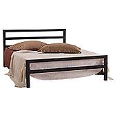 Altruna City Block Bed Frame - Single (3') - Charcoal Black