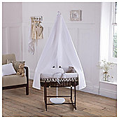 Clair de Lune Moses Basket and Drape Set, White & Dark