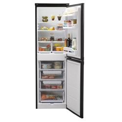 Indesit CAA55K Fridge Freezer, A+, 54.5, Black