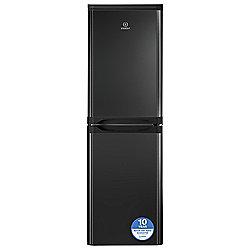 Indesit CAA55K Freestanding Fridge Freezer, 54.5cm, A+ Energy Rating, Black