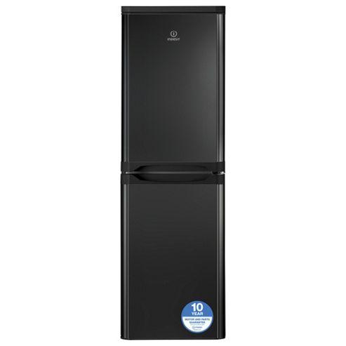 Indesit Fridge Freezer, CAA55K, Black
