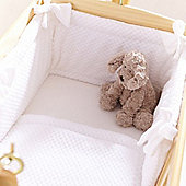 Clair de Lune 2pc Crib Bedding Set (Honeycomb White)