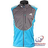 Adidas Mens Formotion Goretex Windstopper Vest - Blue