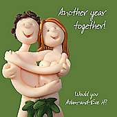 Holy Mackerel Happy Anniversary. Another Year Together, Adam And Eve Greetings Card
