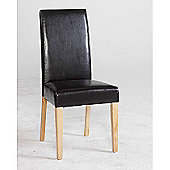 Kensington Black Faux Leather Dining Chair