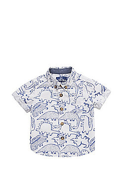 F&F Dinosaur Print Short Sleeve Shirt - Multi