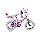 "Professional Izzie Girls Dolly Seat & Stabilisers Pink 12"" Wheel"