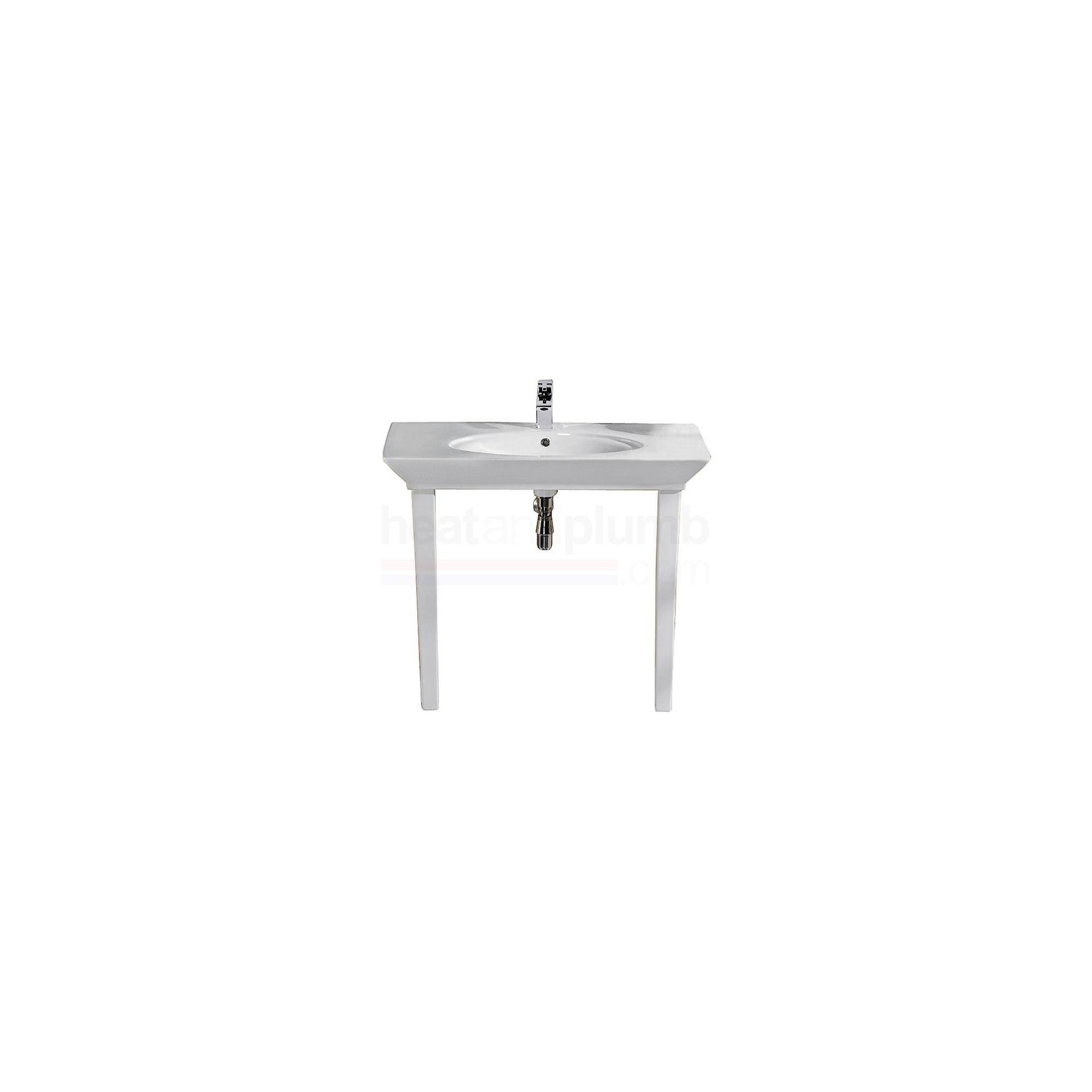 RAK Opulence White 'Her' 1 Piece Countertop Basin with Legs 1000mm Wide at Tesco Direct