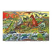 Bigjigs Toys BJ012c Dinosaur Floor Puzzle (96 Piece)