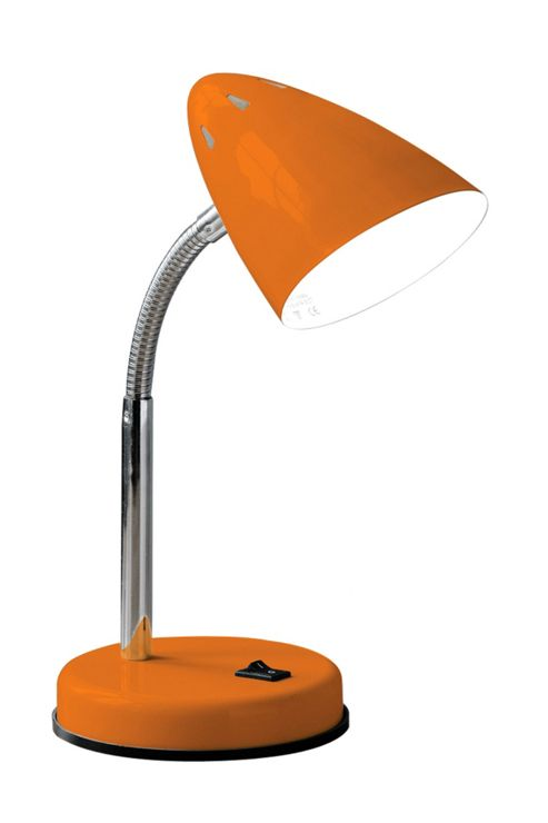 Premier Housewares Flexi Desk Lamp - Orange