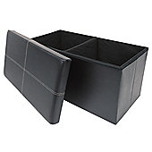 Ottoman Two Seater Black