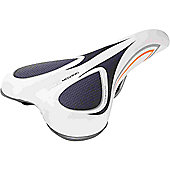Acor Unisex City/Comfort Saddle: White/Grey.