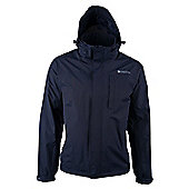 Monsoon Extreme Mens Waterproof Raincoat Shower Proof Anorak Mac Rain Jacket - Blue