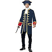 Pirate Commander - Adult Costume Size: 38-40