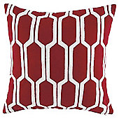 Arai Pattern Cushion Red