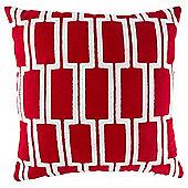 Arai Pattern Cushion Red