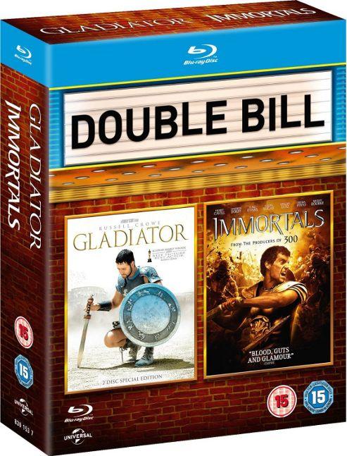 Gladiator/ Immortals Blu-ray