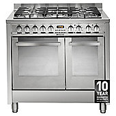 Hotpoint EG902XS, Freestanding, Gas Cooker,90cm, Inox, Twin Cavity, Double Oven