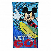 Disney Mickey Mouse Let's Go Printed Beach Towel