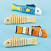Wooden Craft Fish (Pack of 4)