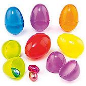 Coloured Plastic Easter Eggs (Pack of 12)