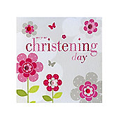 Sherbet Fizz Christening Card - Girl
