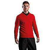 Sunderland Mens Auckland Lambswool Sweater - Red