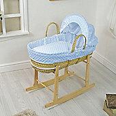 PreciousLittleOne Moses Basket Bedding Set (Dimple Blue)