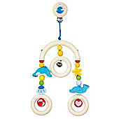 Heimess 735610 Wooden Mini Trapeze Clip On Mobile (Dolphin)