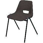 Jemini Stacking Chair Polypropylene Black