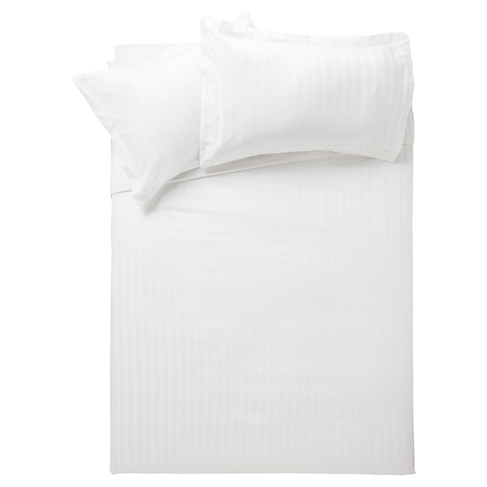 Home and garden bedroom finest pima cotton satin stripe for Pima cotton comforter