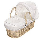 OBaby Hello Little One Moses Basket (White)