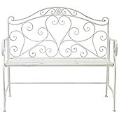Bentley Garden Wrought Iron White Bench