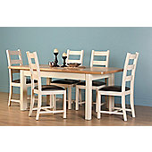 Altruna Rayleigh 7 Piece Dining Set - Painted Cream