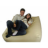 Ashcroft Indoor Large Block Bean Bag - Cream