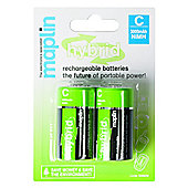 Maplin Hybrid Rechargeable C Battery 3000Mah 2 Pack