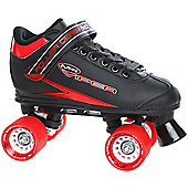 Roller Derby Roller Derby Mens/Womens Viper M-4 Quad Roller Skates Black Or White UK4 - UK11 - Black