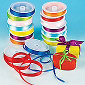 Kids Crafts Coloured Satin Ribbon (Pack Of 16)