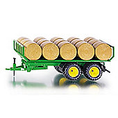 Siku Farm Trailer With Round Hay Bales 2891 1:32 Model Farm Toys