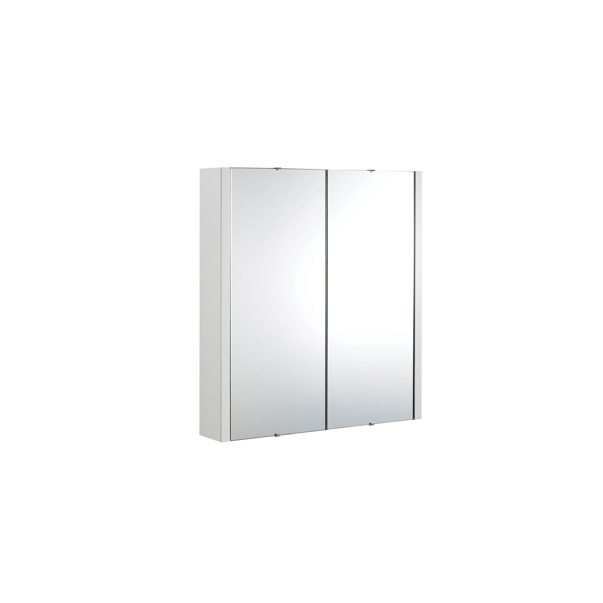 Ultra Lux White 2 Door Wall Mounted Mirror Cabinet 650mm High x 600mm Wide
