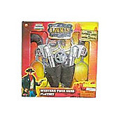 Lawman Western Twin Guns Playset