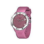 Tresor Paris Watch - ISL - Stainless Steel Bezel & Crystal Dial - Pink Silicone Strap - 44mm