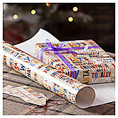 Kraft Fun Text Christmas Wrapping Paper, 4m