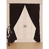 Como Ready Made Lined Curtains - Black