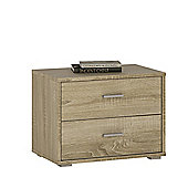 Kensington 2 Drawer Low Chest/Bedside Sonama Oak